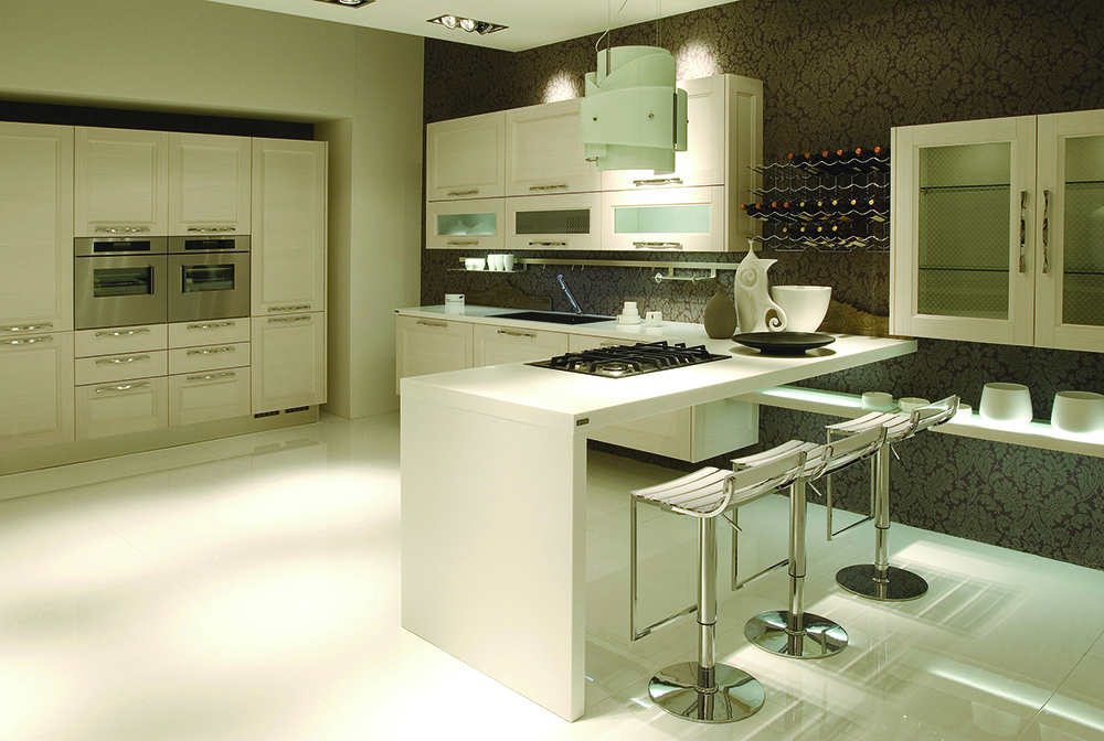 Small Home Kitchen Bar Counter Corian Worktops L Shape