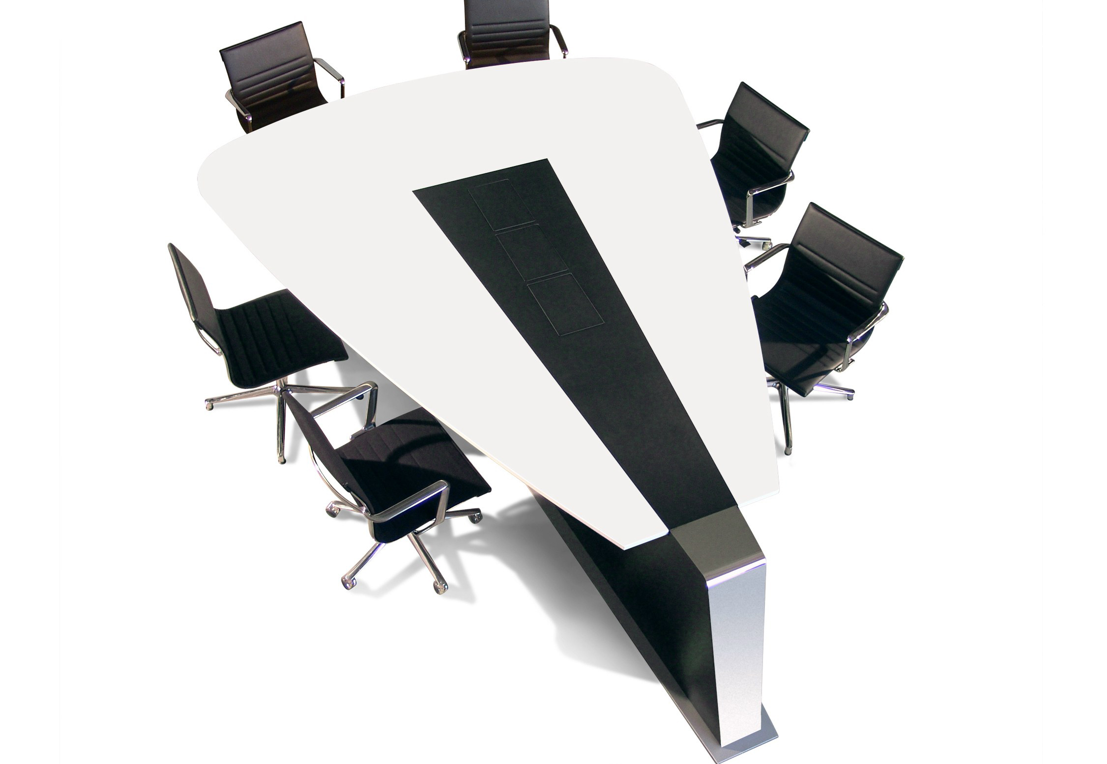 Triangle Marble Office Conference Meeting Room Table