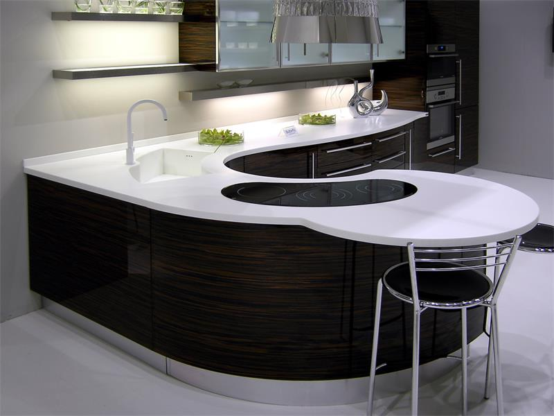 Classic design kitchen counter L shape for sale