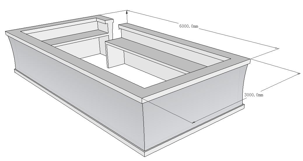 led bar counter drawing