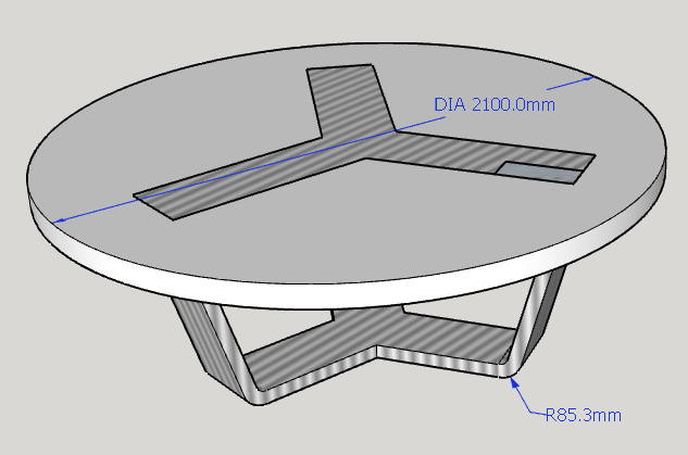 Rpind conference table 3D drawing