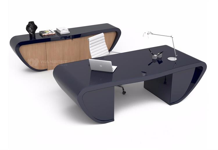 A set grey office desk