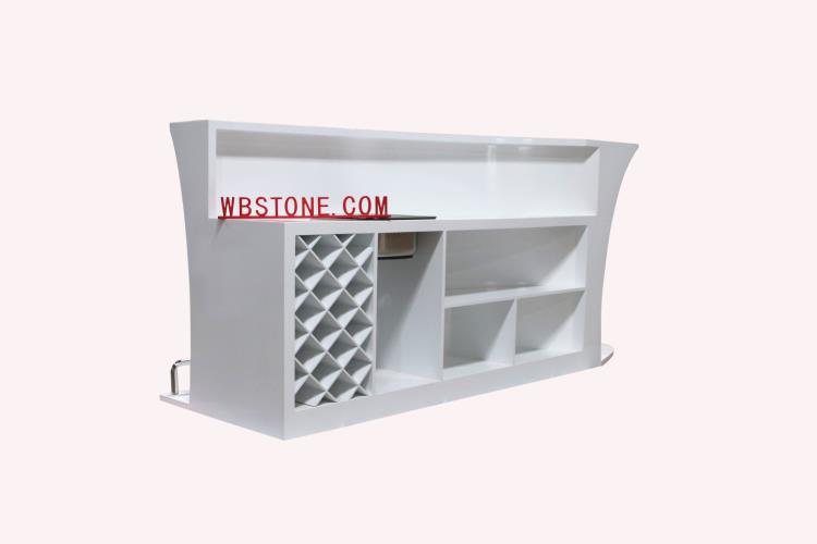 The behind of artificial stone  bar counter