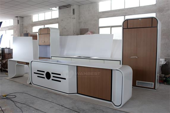 Professional solid surface imported materials Kitchen counter