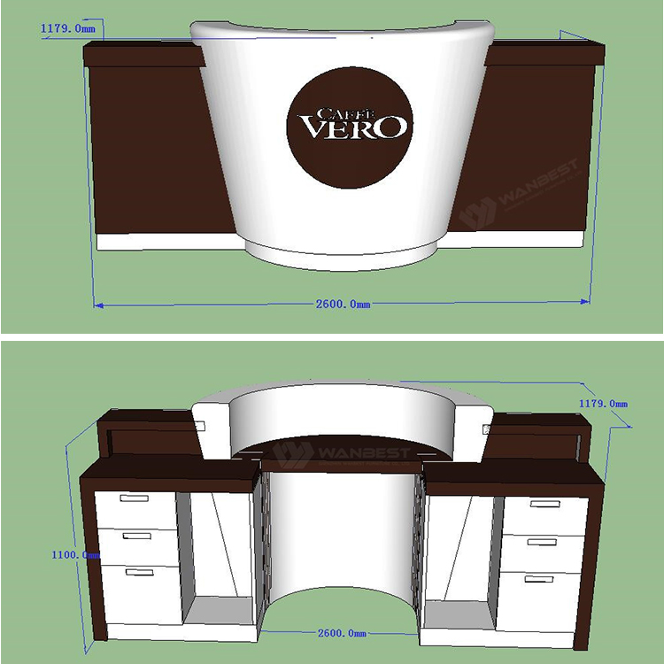 Coffee bar counter  3D drawing