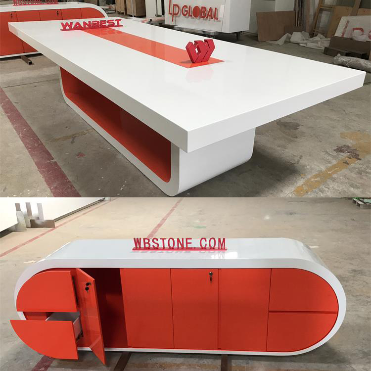 Orange conference table