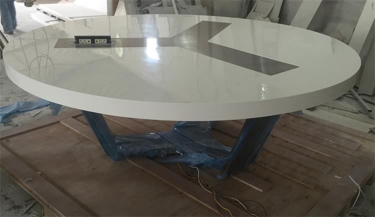 A big solid surface conference table