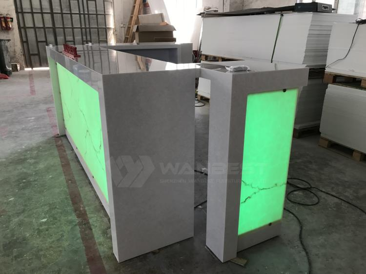 Solid surface bar counter