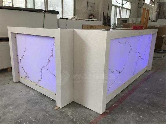 Artificial Stone Commercial RGB LED Bar Counter For Sale