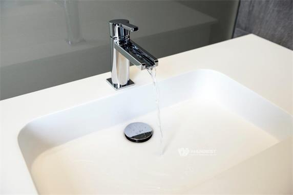 Aritificial Stone White Bathroom Products With 3 Sinks