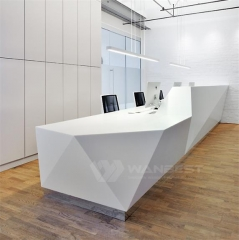 Large Solid Surface  Commercial Company Front Counter Furniture