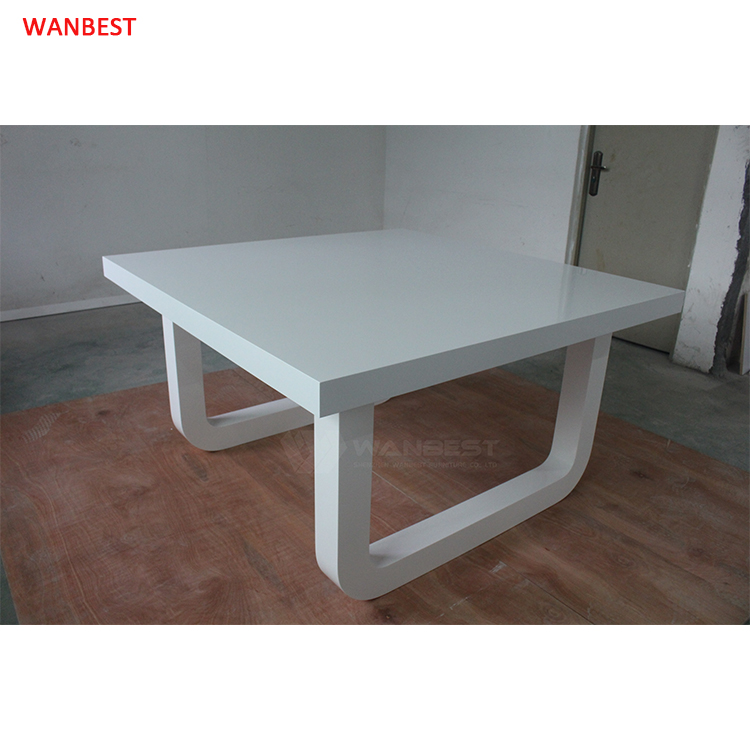 White solid surface dining table
