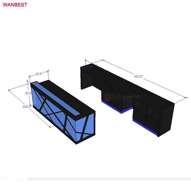 3D drawing design reception desk for sale