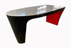 oval office desk artificial stone red and black color