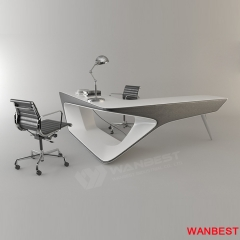 Fashion artificial stone the best office furniture CEO desk