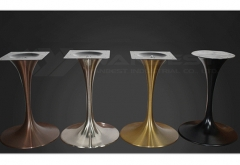 Rectangular artificial stone marble dining table set 6 8